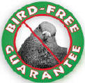 Bird Free Guaranteed service for pigeons and birds logo