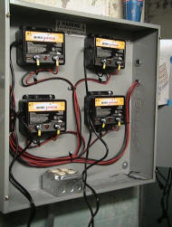 Plug in shock boxes for all the different shock trrack zones