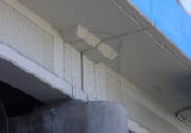 Freeway under pass face using netting to keep pigeons out