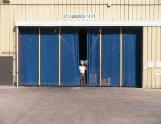 These warehouse doors are 15' high and 30' wide